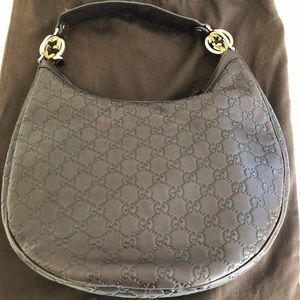 Gucci Bags - GUCCI BROWN GG GUCCISSIMA LEATHER HOBO BAG